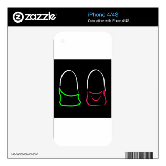 Abstract drawing of stylish handbags iPhone 4 decal