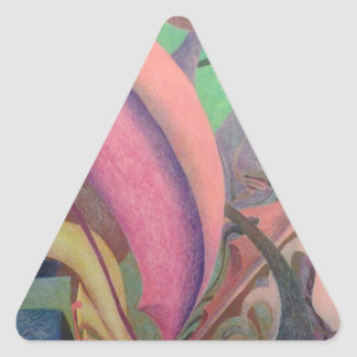 Abstract Drawing Triangle Sticker