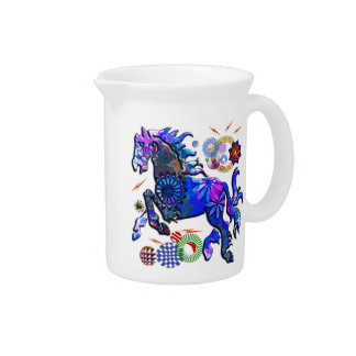 Abstract Dream Design Horse Pitcher