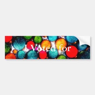 Abstract Droplets Bumper Sticker