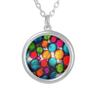 Abstract Droplets Silver Plated Necklace