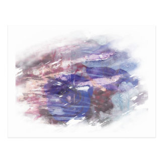 Abstract dye lift of a rose printed photograph postcard