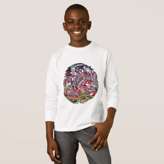 Abstract Eagle Bass and Bear Tribal Art T-Shirt