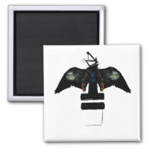 Abstract Eagle Magnet