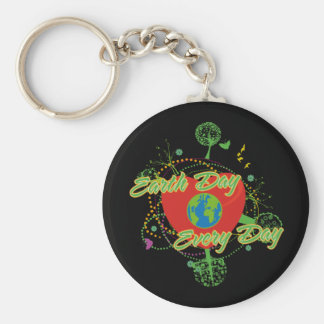 Abstract Earth Day Key Chains