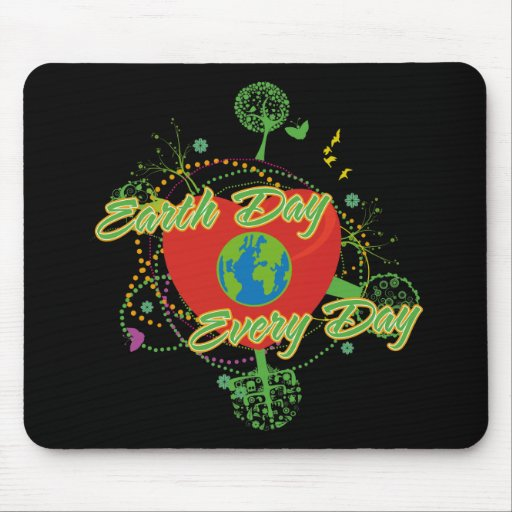 Abstract Earth Day Mouse Pads