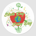 Abstract Earth Day Round Sticker