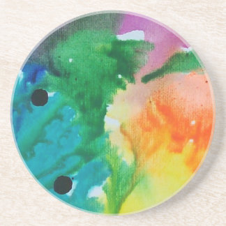 Abstract Earth & Fire Sandstone Coaster