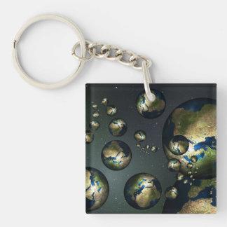 Abstract Earth Keychain