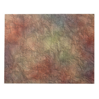 Abstract Earth Tone Colors Notepad