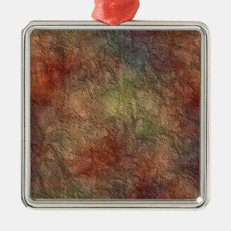 Abstract Earth Tone Colors Premium Square Ornament