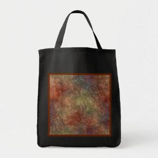 Abstract Earth Tone Colors Reusable Black Bag
