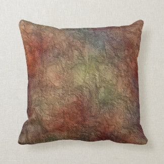 Abstract Earth Tone Colors Reversible Throw Pillow