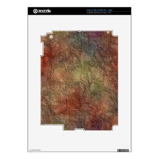 Abstract Earth Tone Colors Skin iPad 2 Decal