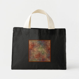 Abstract Earth Tone Colors Small Black Canvas Bag