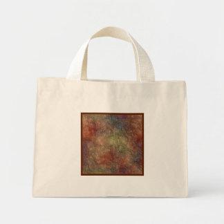 Abstract Earth Tone Colors Small Mini Tote Bag