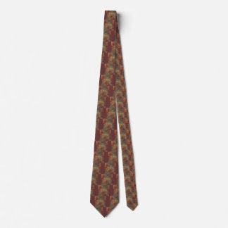 Abstract Earth Tone Colors Tie