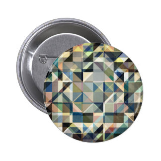 Abstract Earth Tone Grid Pinback Button