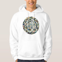 Abstract Earth Tone Grid Hoodie