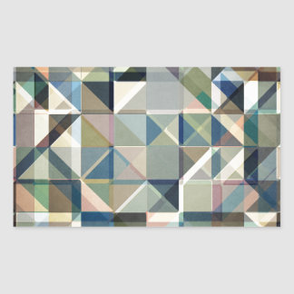 Abstract Earth Tone Grid Rectangular Sticker