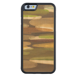 Abstract Earth Tone Landscape Carved® Maple iPhone 6 Bumper