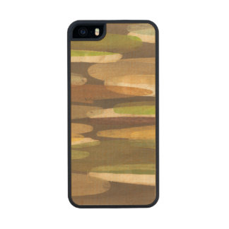 Abstract Earth Tone Landscape Carved® Maple iPhone 5 Slim Case