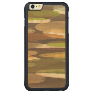 Abstract Earth Tone Landscape Carved® Maple iPhone 6 Plus Bumper Case
