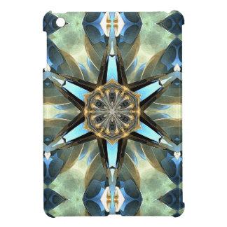Abstract Earth Tones Emblem iPad Mini Case