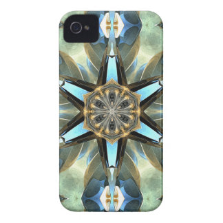 Abstract Earth Tones Emblem iPhone 4 Case-Mate Case