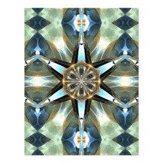 Abstract Earth Tones Emblem Letterhead