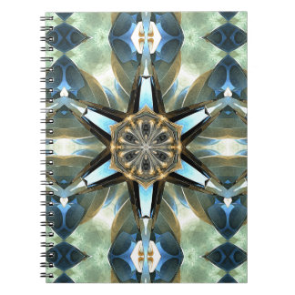 Abstract Earth Tones Emblem Note Books