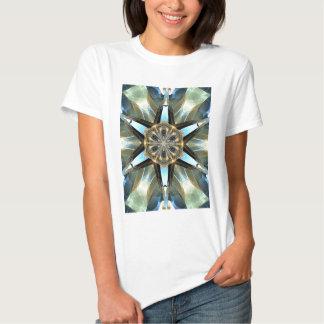 Abstract Earth Tones Emblem T Shirts