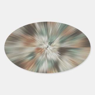 Abstract Earth Tones Tie Dye Oval Sticker