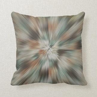 Abstract Earth Tones Tie Dye Throw Pillow