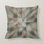 Abstract Earth Tones Tie Dye Throw Pillows