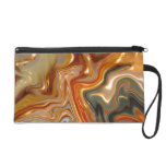 Abstract Earthtones Wristlets Bag by Bagettes