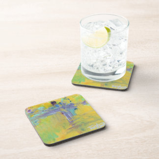 Abstract Easter Beverage Coaster