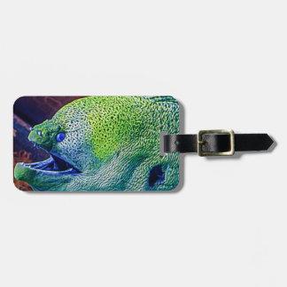 Abstract Eel Bag Tag