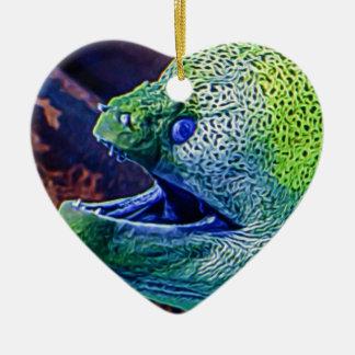 Abstract Eel Ceramic Ornament