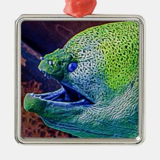 Abstract Eel Metal Ornament