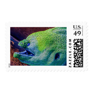 Abstract Eel Postage