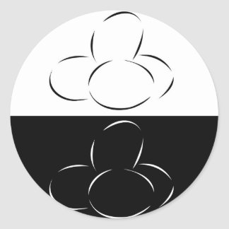 Abstract eggs classic round sticker