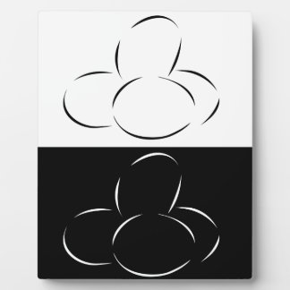 Abstract eggs plaque