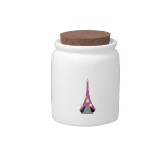 Abstract Eiffel Tower Candy Jar