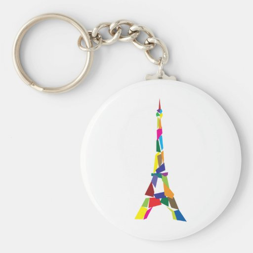 Abstract Eiffel Tower, France, Paris Keychains
