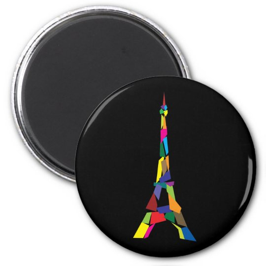 Abstract Eiffel Tower, France, Paris Magnet