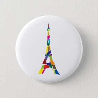 Abstract Eiffel Tower, France, Paris Pinback Button