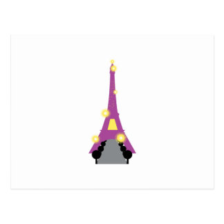 Abstract Eiffel Tower Postcard