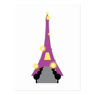 Abstract Eiffel Tower Postcards