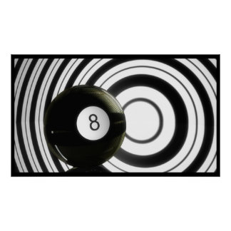Abstract Eightball Poster